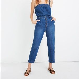 Madewell Tapered Jeans Eastgate Wash Button Front